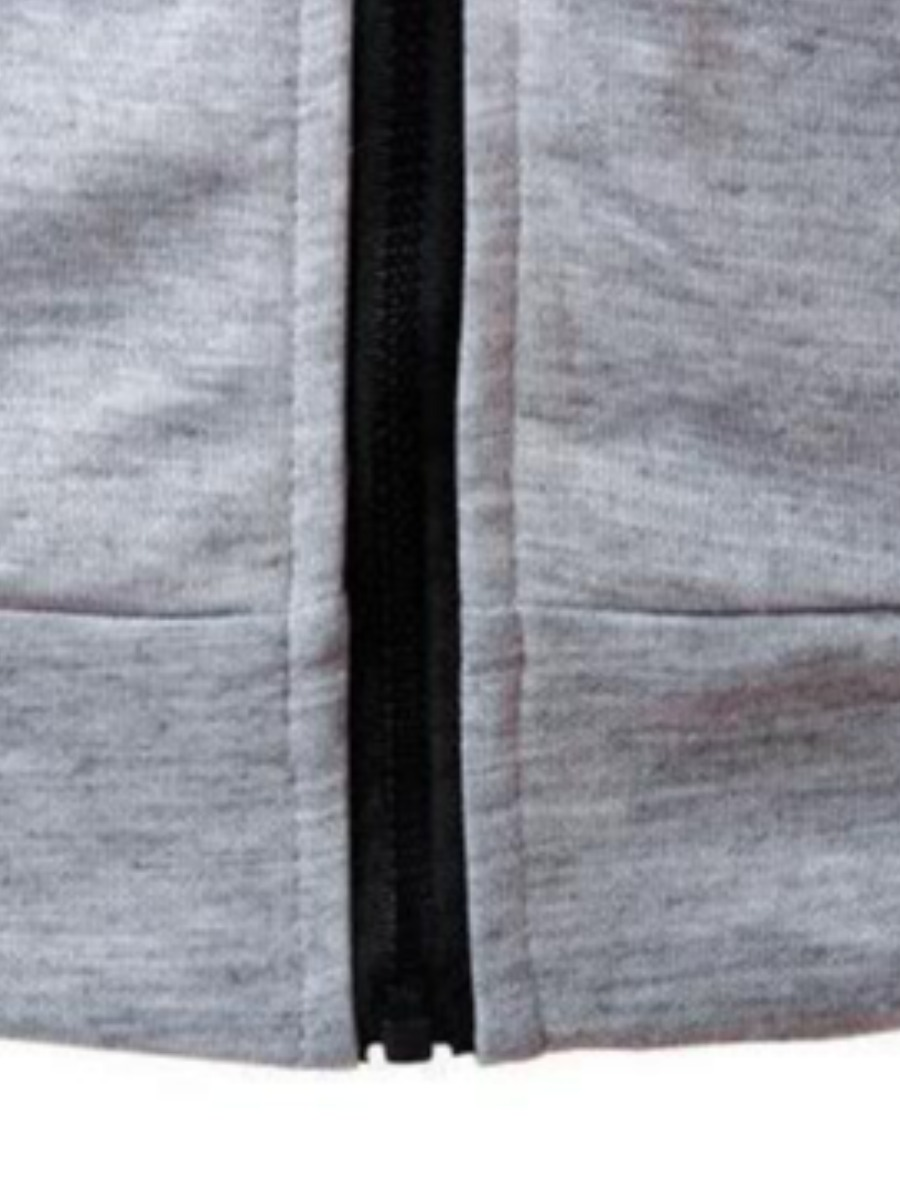 Lovely Men Casual Hooded Collar Drawstring Light Grey Two Piece Shorts Set
