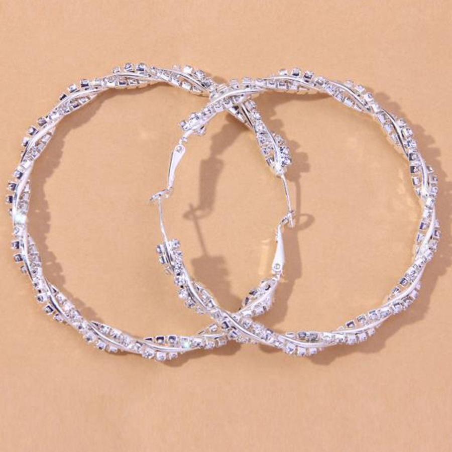 LW Street Circular Silver Earring