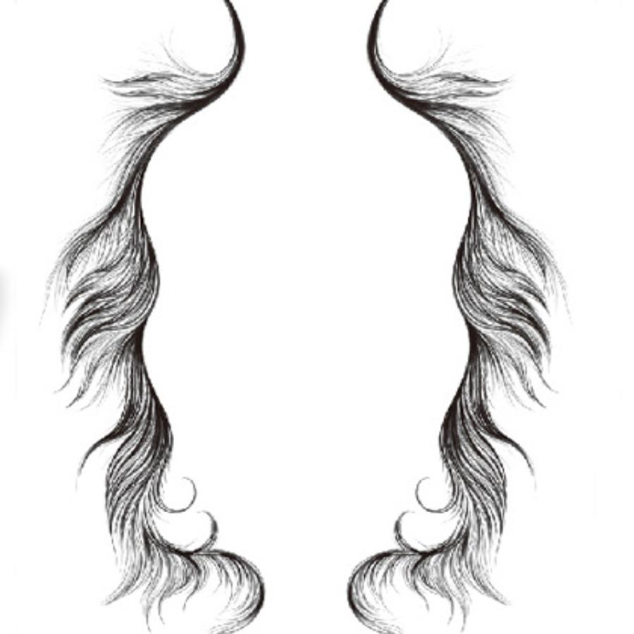 LW Casual Asymmetrical Pitch-black Hair Edge