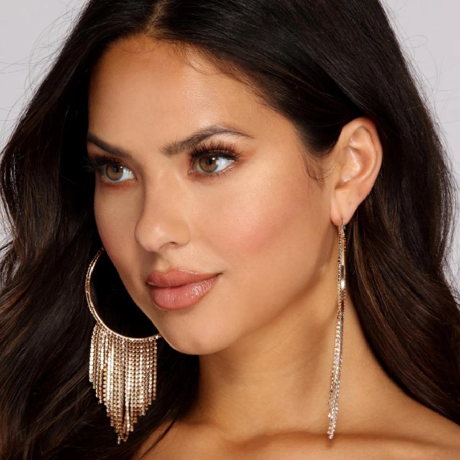 LW SXY Tassel Design Gold Earring