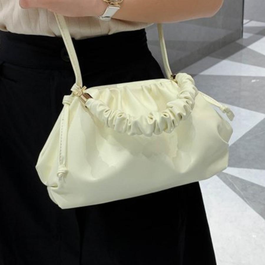LW Casual Fold Design White Crossbody Bag