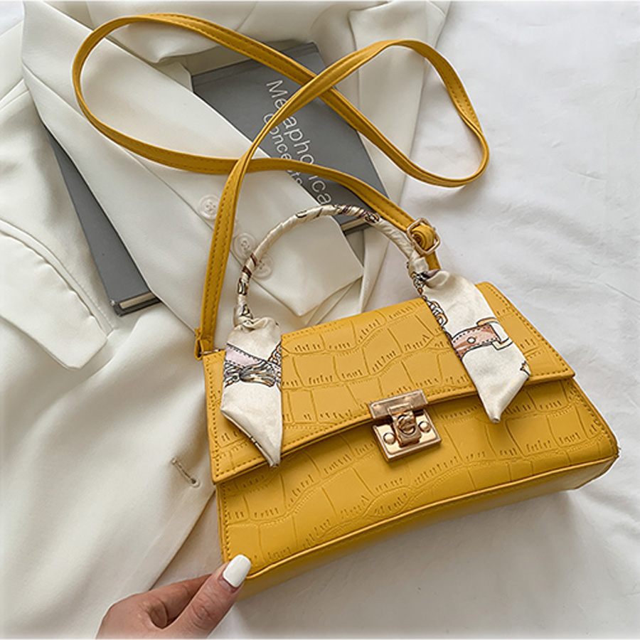 Lovely Casual Stone Pattern Yellow Crossbody Bag
