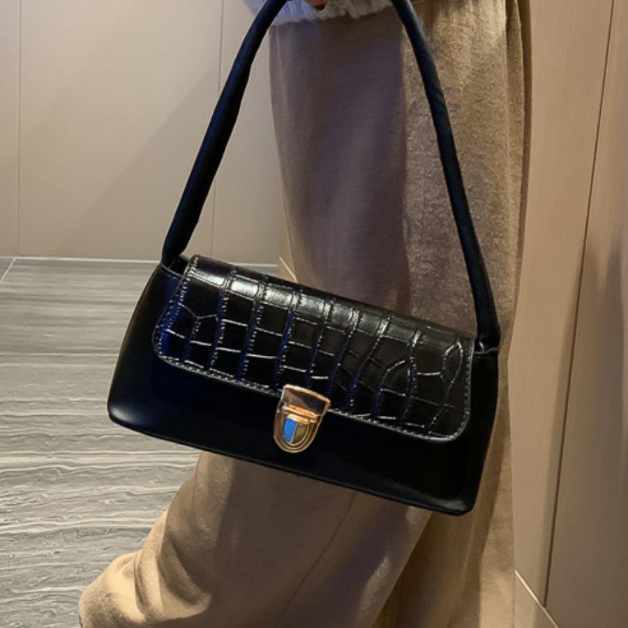 Lovely Casual Stone Pattern Black Shoulder Bag