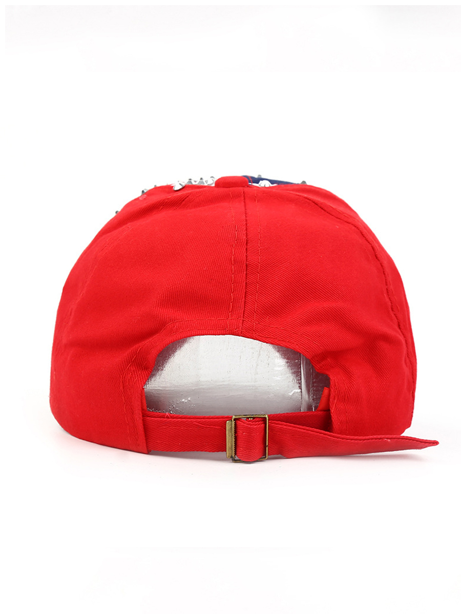 Lovely Men Casual American Flag Independence Day Red Hat