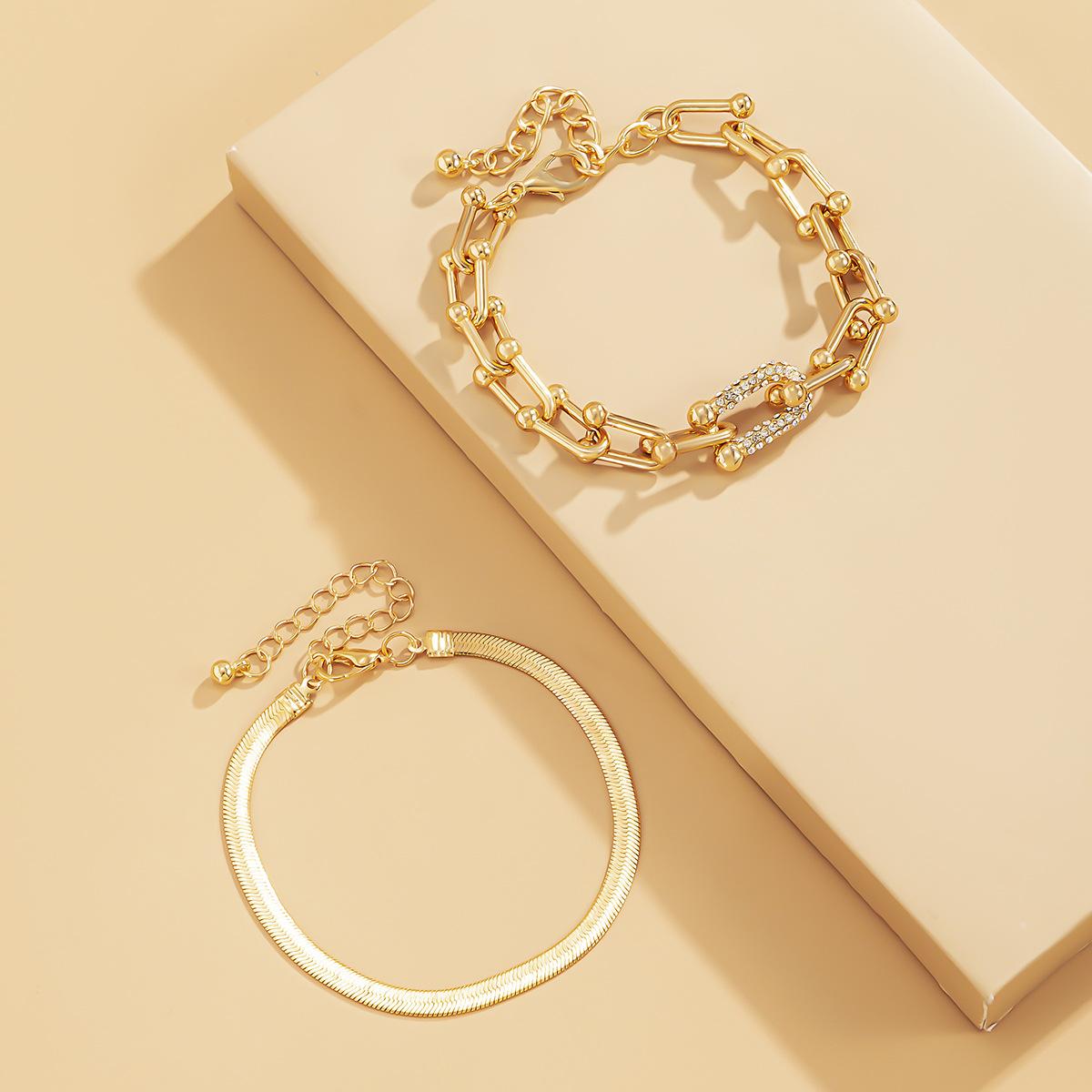 LW Street Square Buckle Gold Bracelet