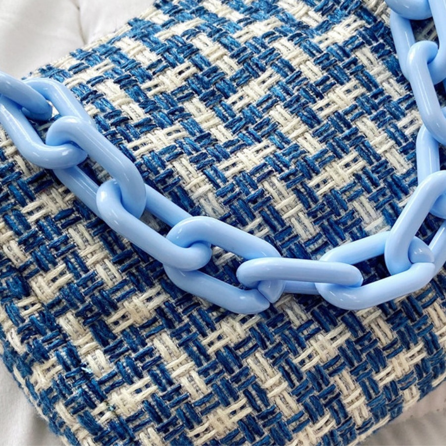 Lovely Chain Strap Patchwork Messenger Bag