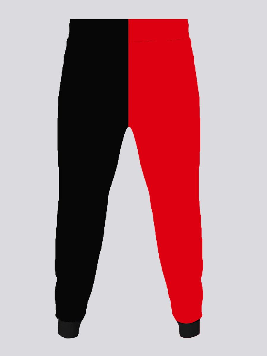 LW Men Color-lump Patchwork Pants
