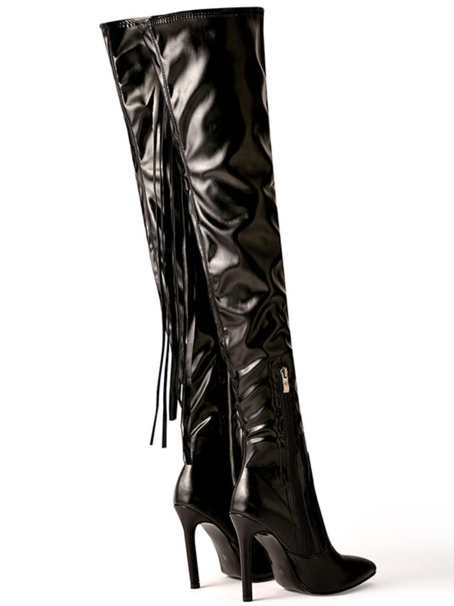 LW Tassel Design Thigh High Boots