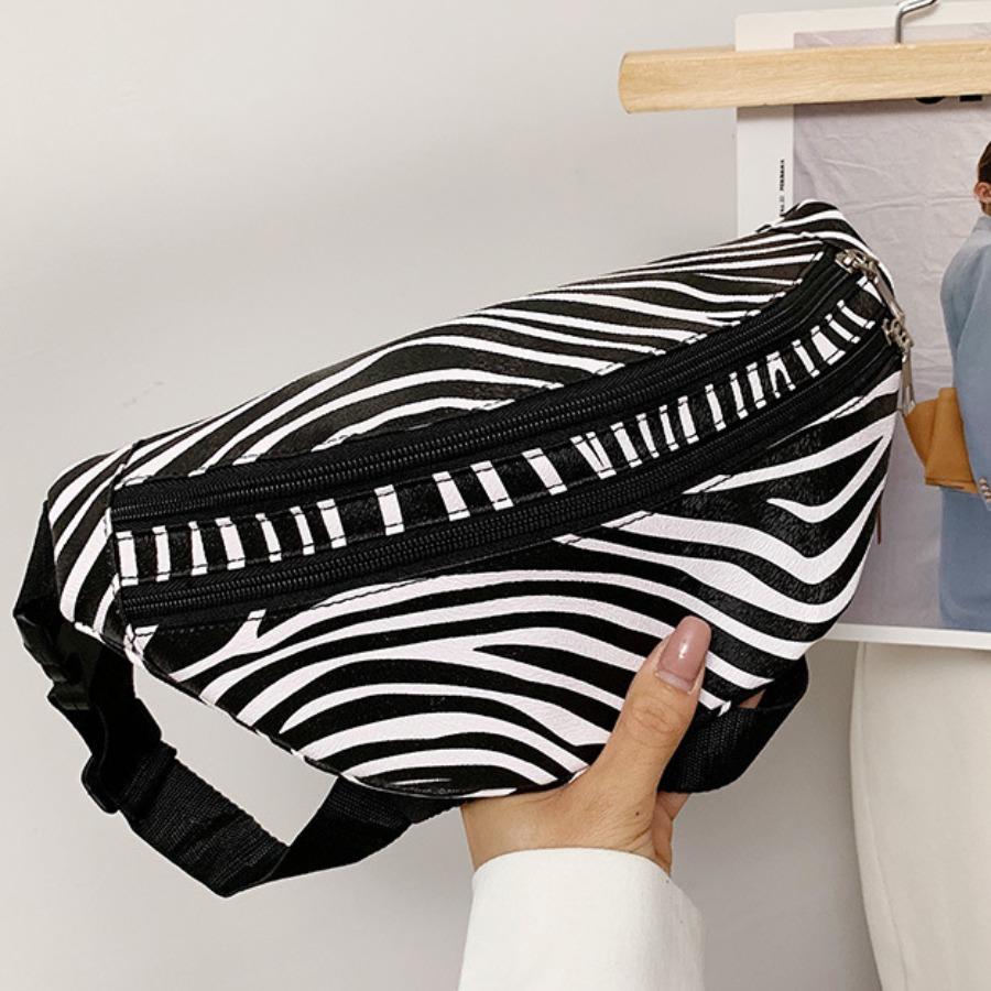 Lovely Zebra Striped Bum Bag