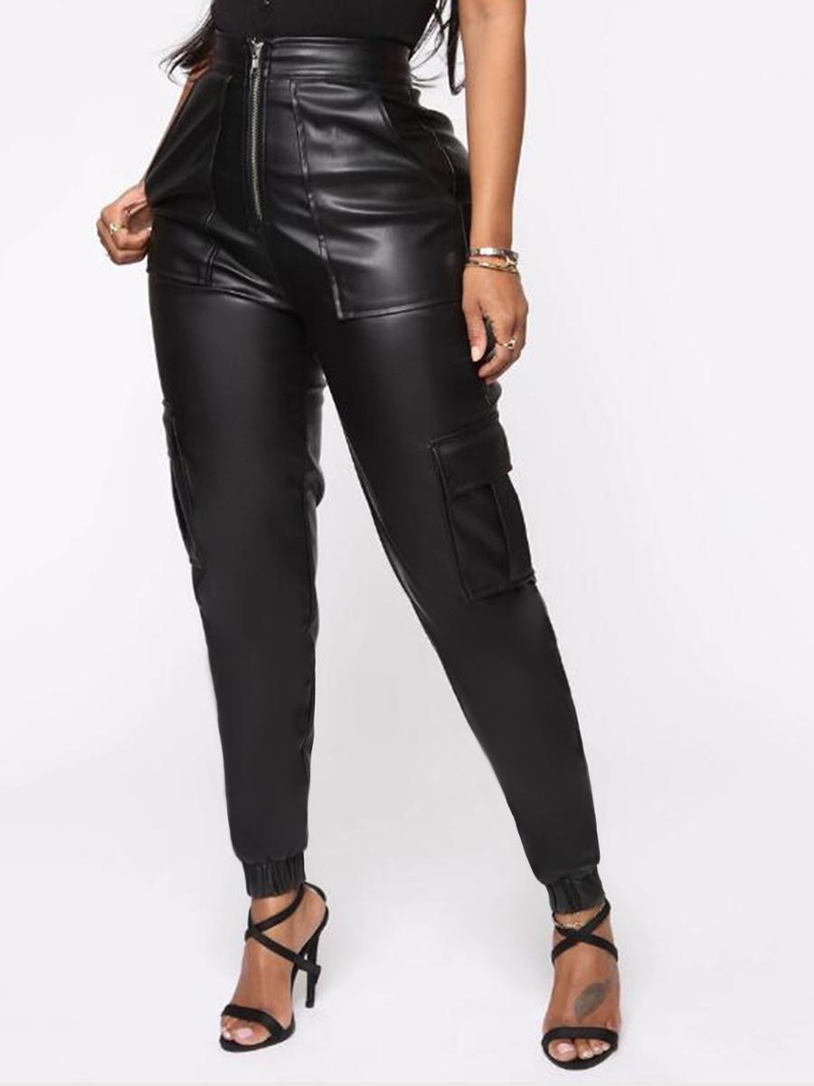 LW BASICS High-waisted Side Pocket Pants