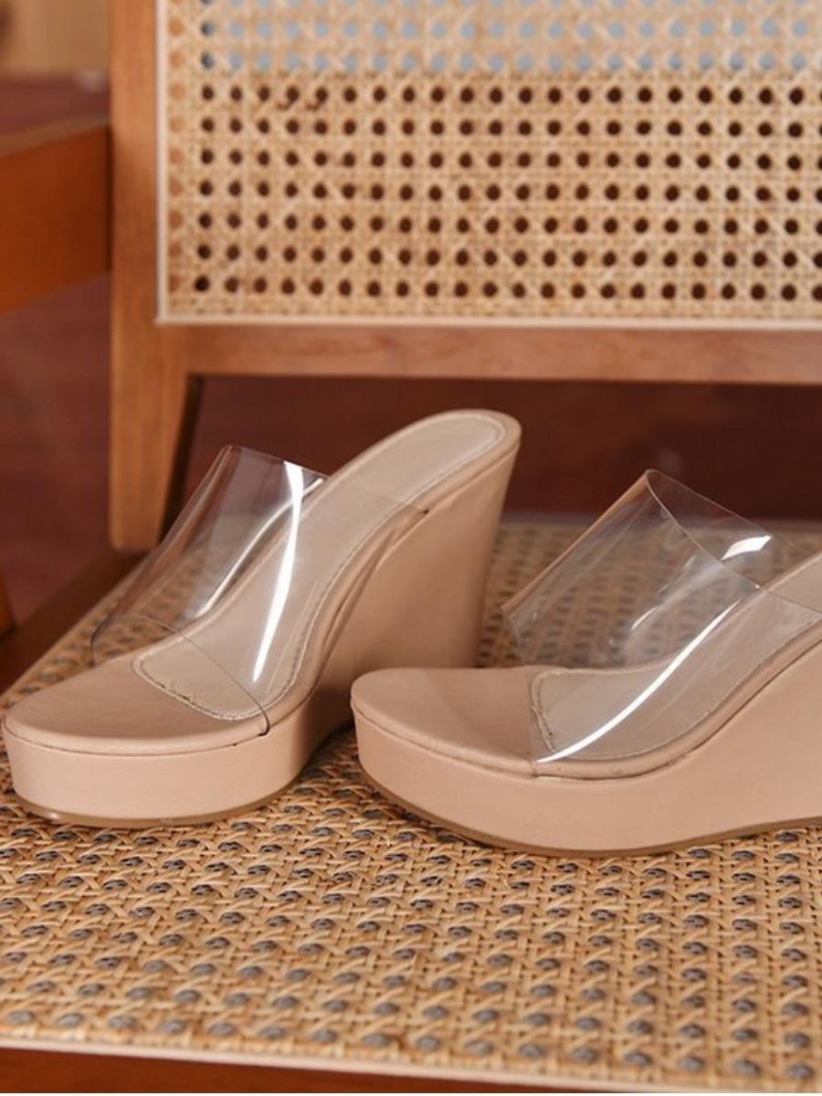 LW Clear Strap Platform Shoes