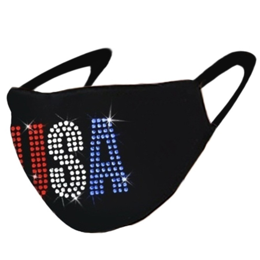 Lovely Sequined Letter Decoration Face Mask