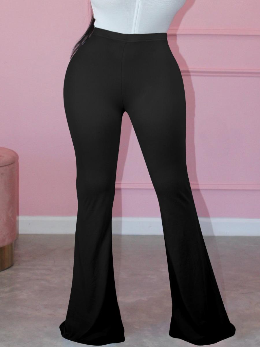 LW BASICS Mid Waist Flared Pants