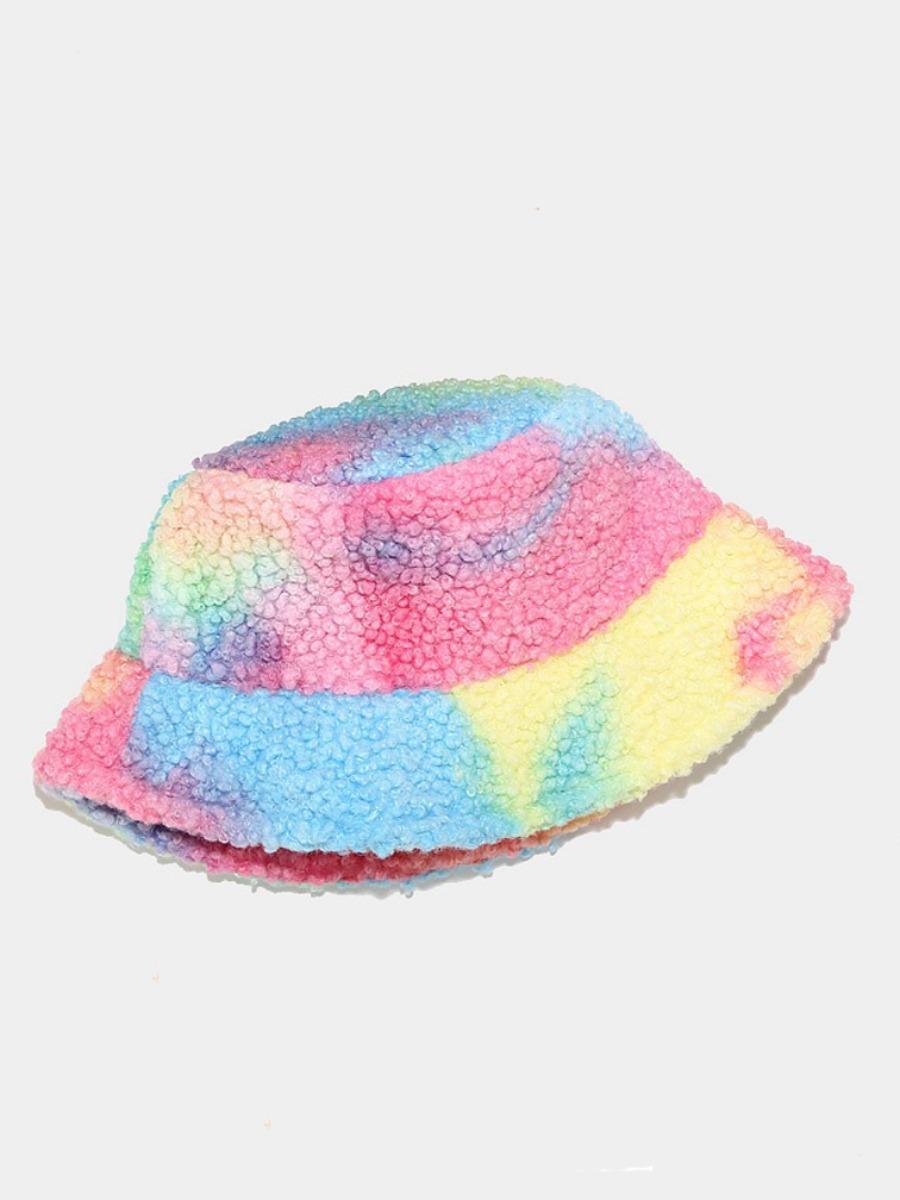 Lovely Tie-dye Plush Hat
