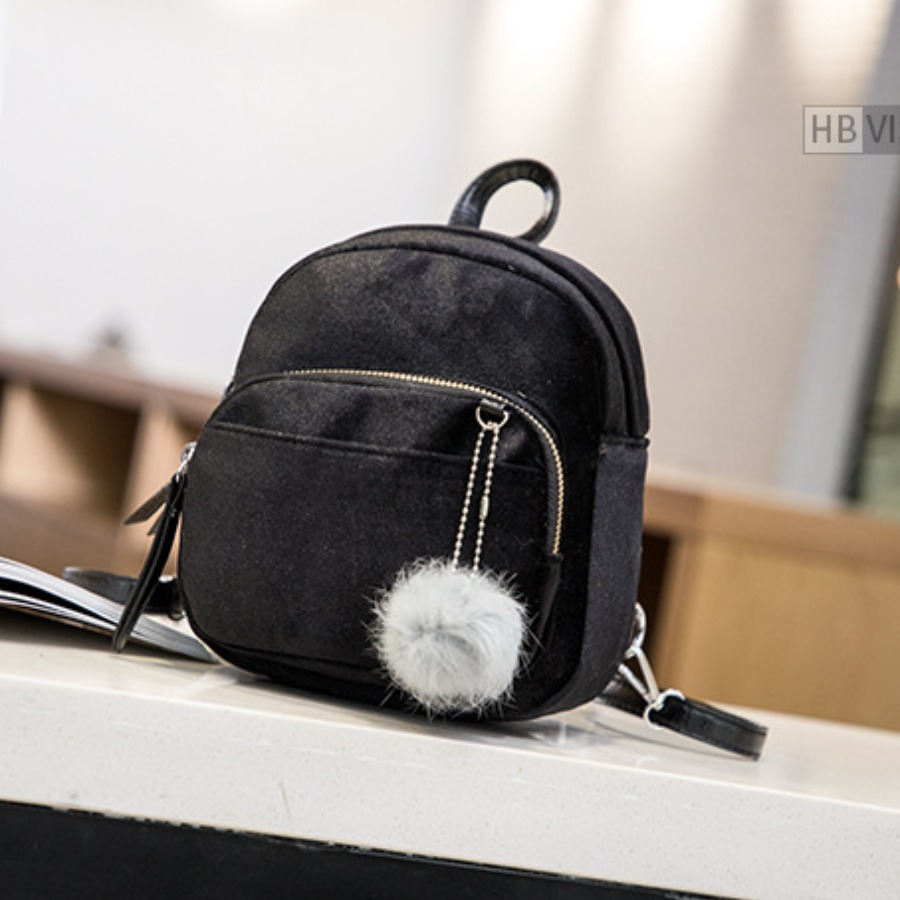 LW BASICS Metal Accessories Decoration Backpack