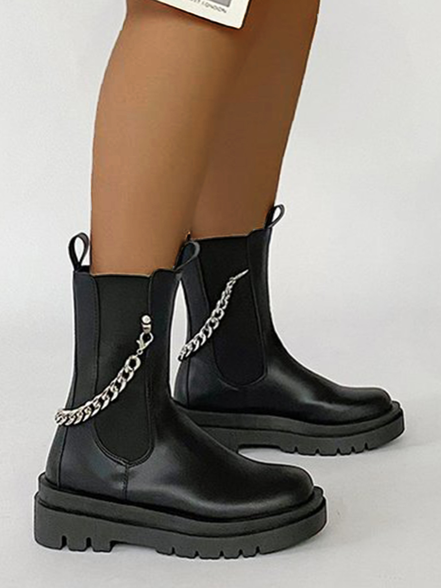 LW Chain Decoration Booties