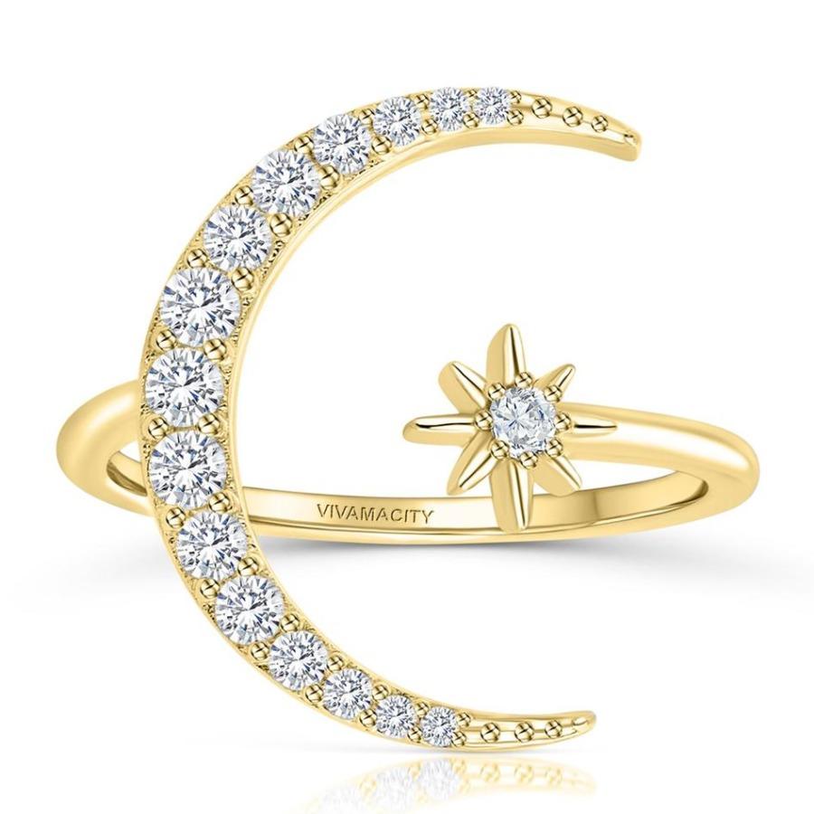 Lovely Star Moon Ring Set