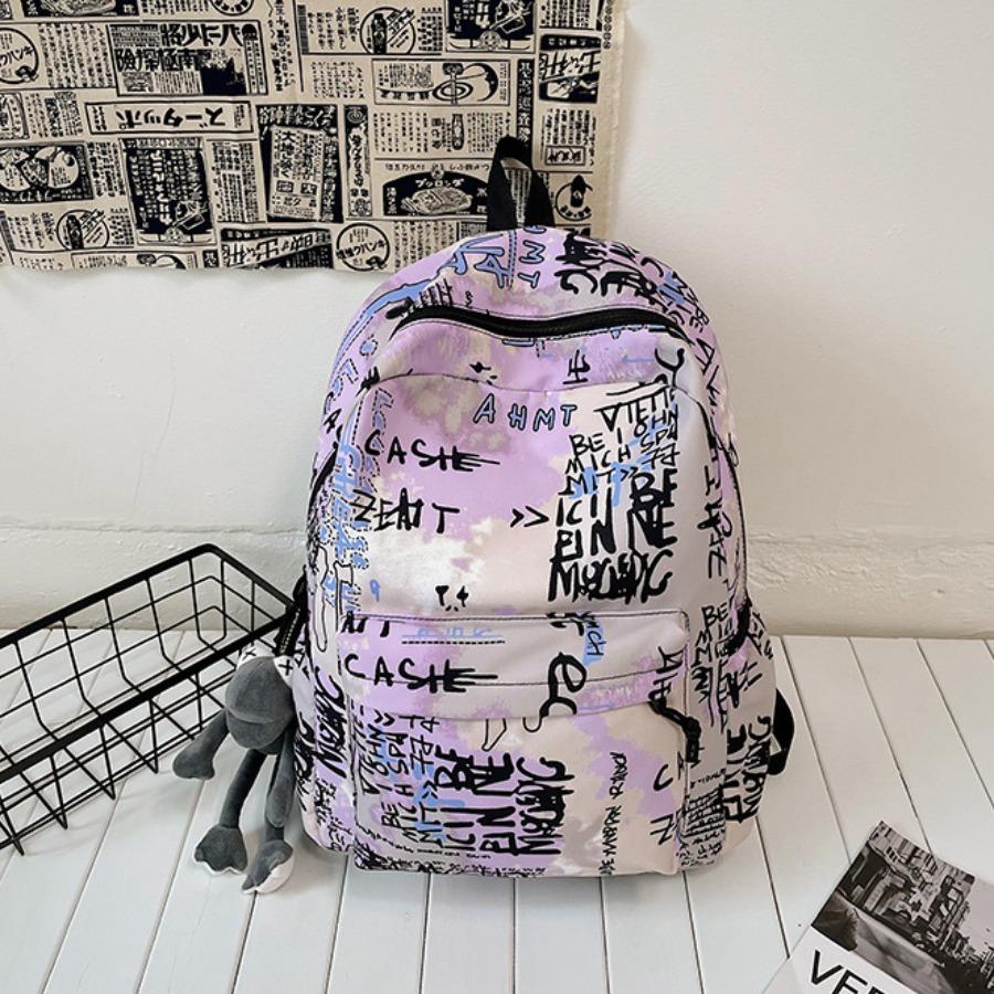 Lovely Graffiti Print Backpack