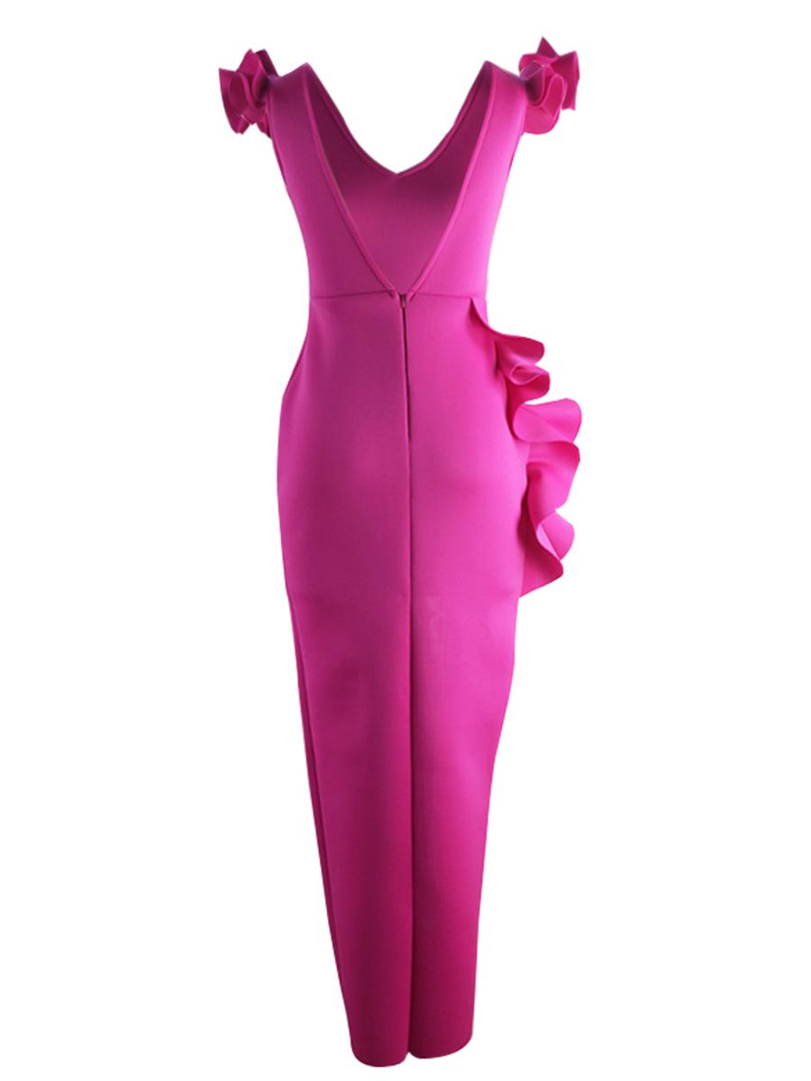 LW Flounce Design Split Prom Dress