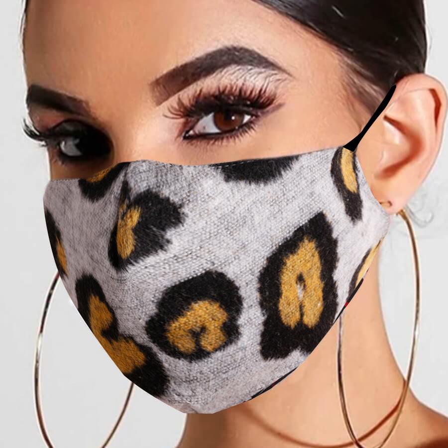 LW COTTON Leopard Print Face Mask