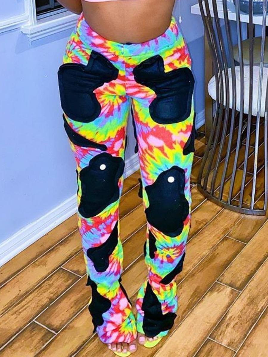 LW BASICS Gradient Print Flared Pants