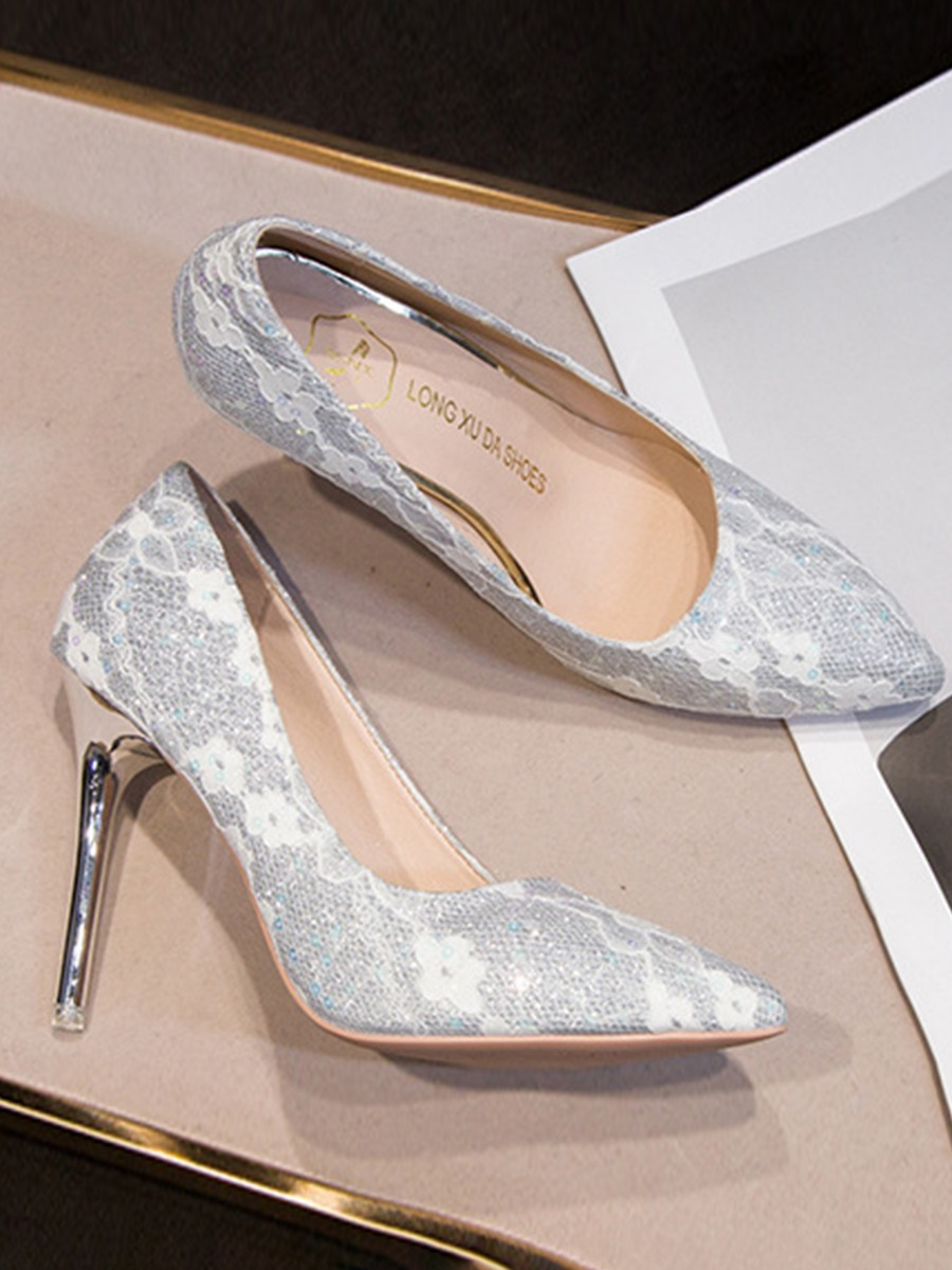 LW Flower Decor Pointed Toe Pumps