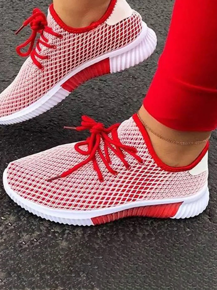 LW Mesh Patchwork Breathable Sneakers