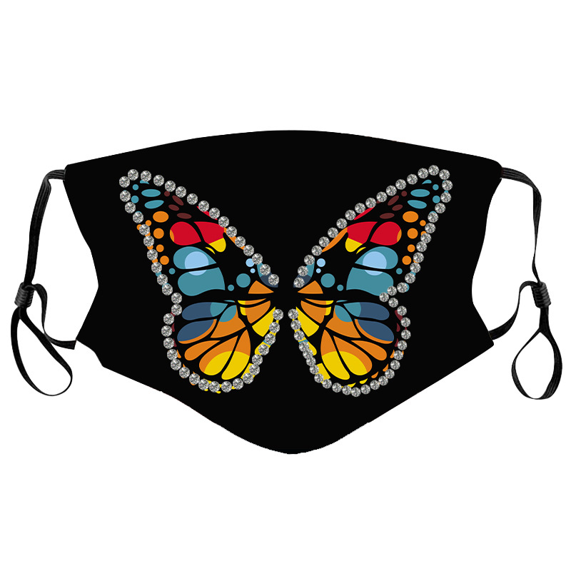 LW COTTON Butterfly Print Face Mask