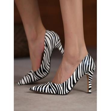 Lovely Zebra Striped Pumps