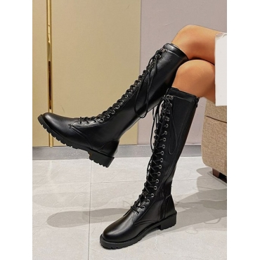 LW Lace-up Daily Thigh High Boots