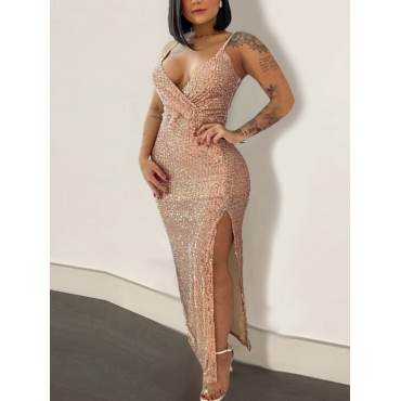 LW SXY Sequined Slit Cami Prom Dress, lovely  - buy with discount