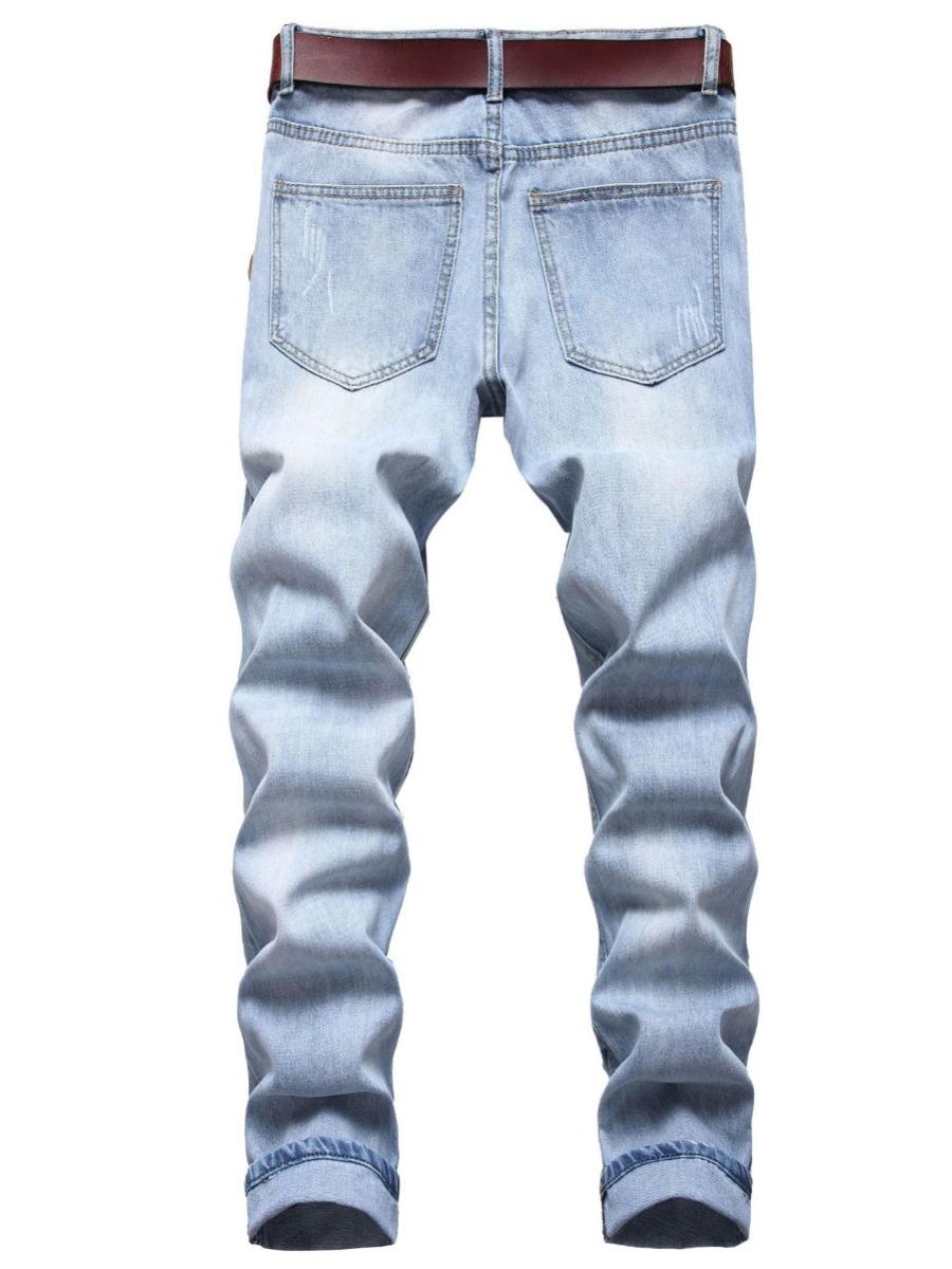 LW Men Casual Mid Waist Ripped Denim Jeans