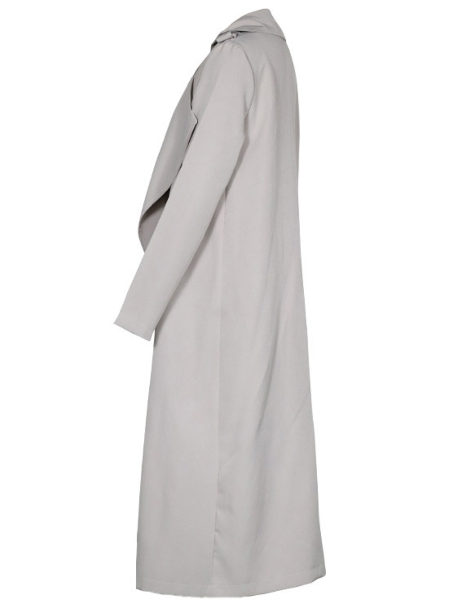 LW Open Front Solid Oversized Trench Coat