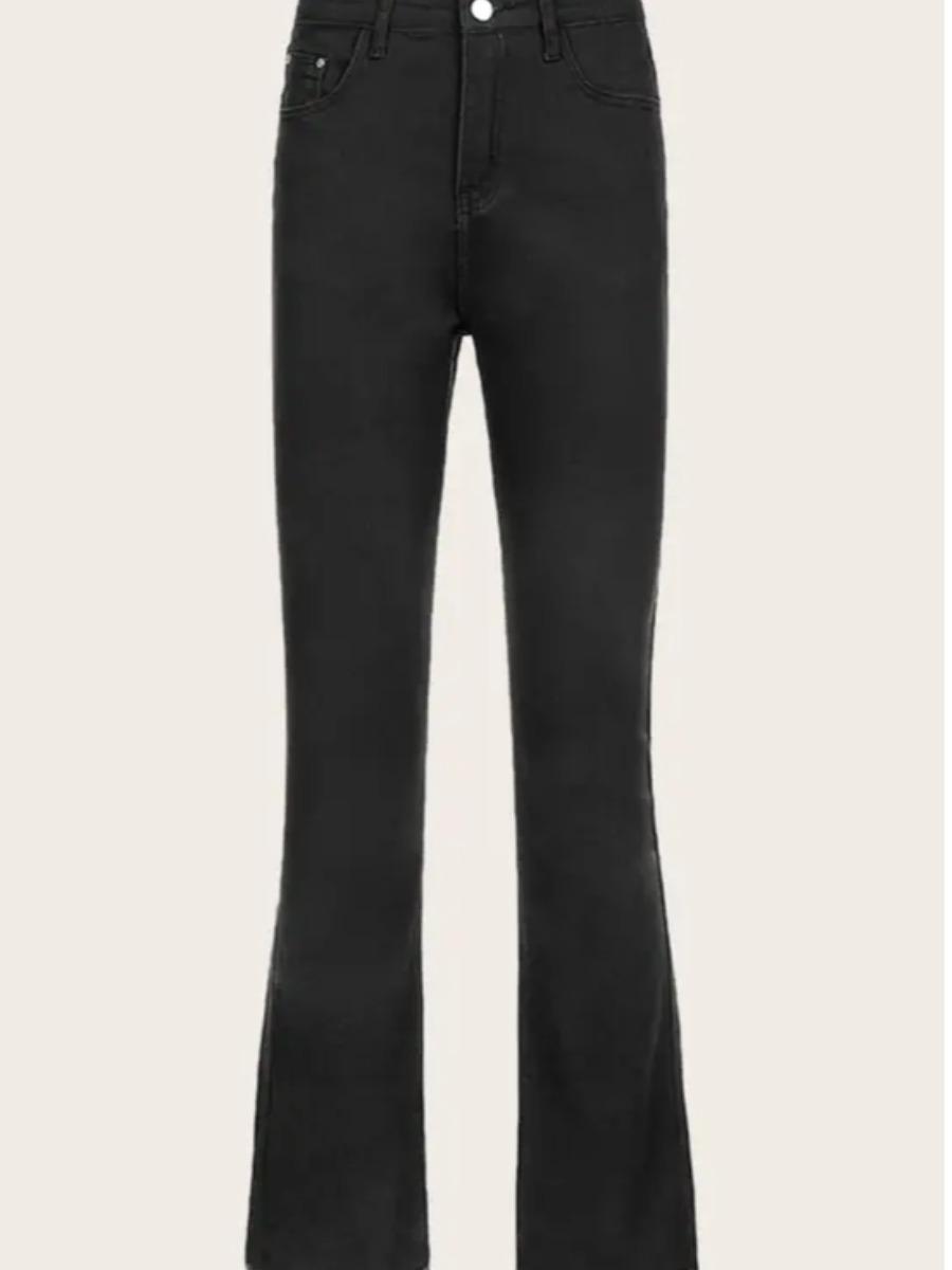 LW BASICS Raw Edge Flared Skinny Jeans
