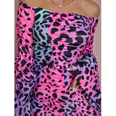 LW SXY Off The Shoulder Animal Print Jumpsuit (Without Belt)