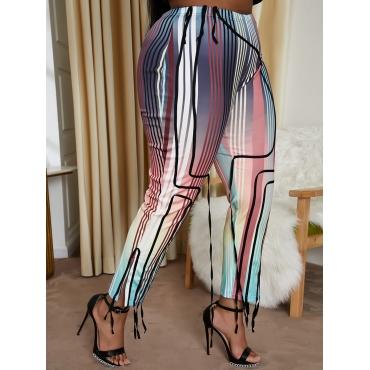 LW Plus Size Casual Striped Gradient Pants