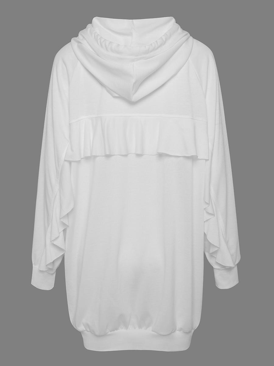 LW Cotton Ruffle Design Sweat Dress